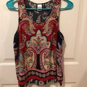 Multicolored sleeveless top